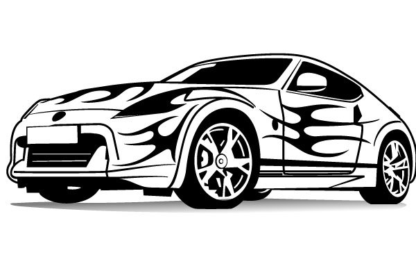 Free Sports Car Vector