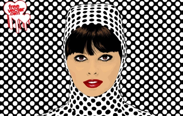 Free Pop Art Girl Vector