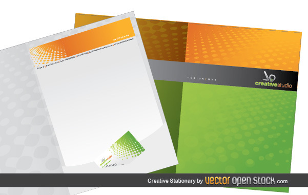 Free Vectors: Creative Stationary Template | Vector Open Stock