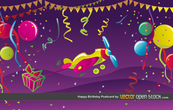 Free Happy Birthday Postcard