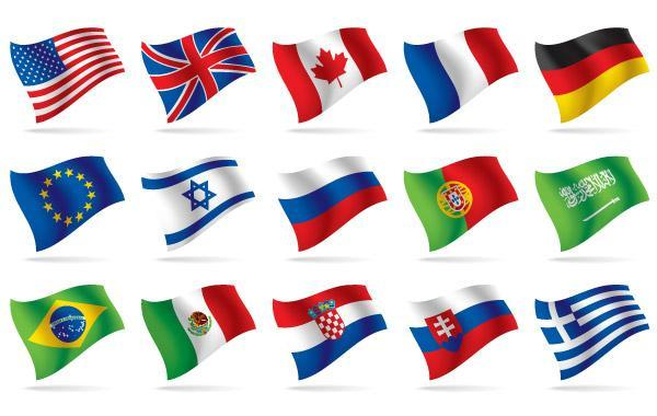 Free World National Flag Vectors