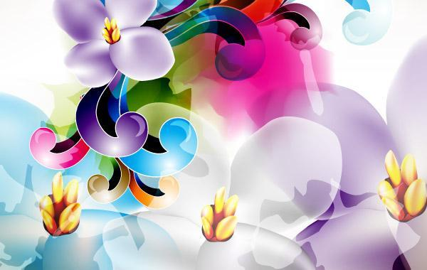 Free Floral Ornament Vector Illustration