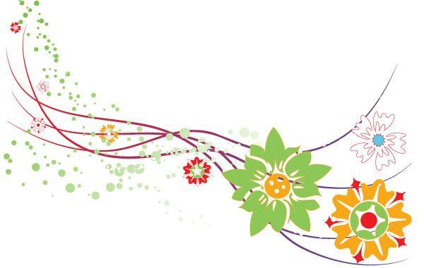 Abstract Flower Design Vector Graphic