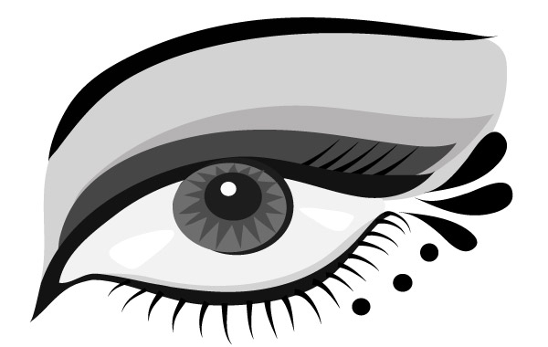 Free Hand-painted Eyes Vector