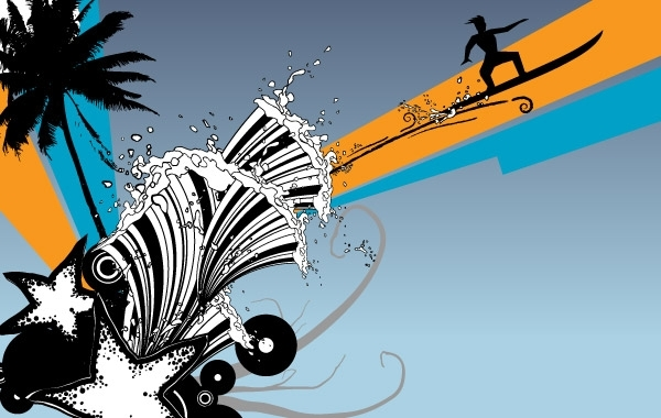Free Vectors: Beach Surf Graphics | freevector