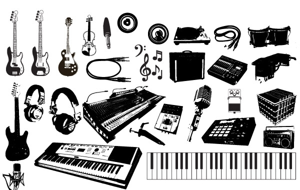 Free Music Instruments Vector Graphics