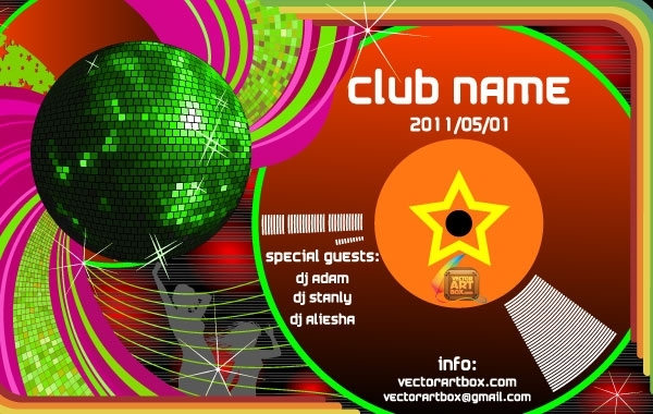 Free Vector Club Poster Template