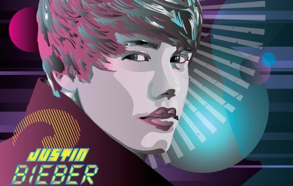 Free Justin Bieber World Vector