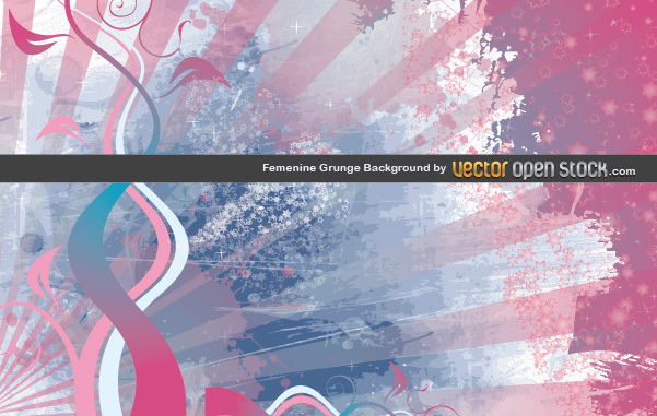 Free Femenine Grunge Background