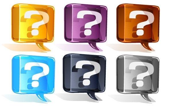Free Colorful Question Mark Vector Set