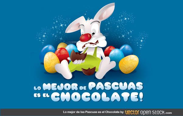 Free Lo mejor de las Pascuas es el Chocolate