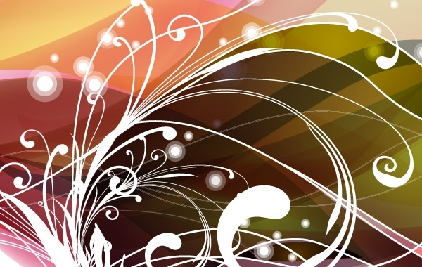 Free Abstract Floral Background Vector