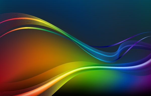 Free Vectors: Colorful Waves and Lines Vector Background  | webdesignhot