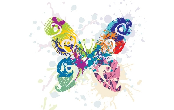 Free  Abstract Butterfly Vector Graphic