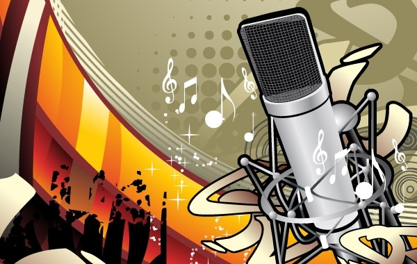 Free Music Illustration Vector Material 1