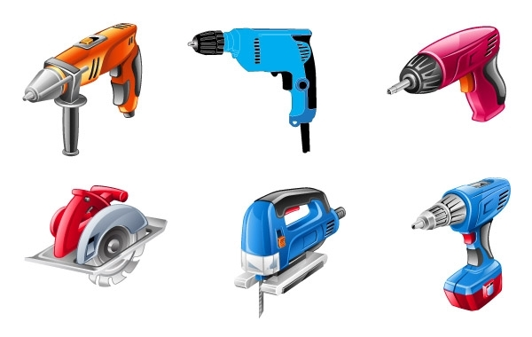Free Electric Tools Vector Set