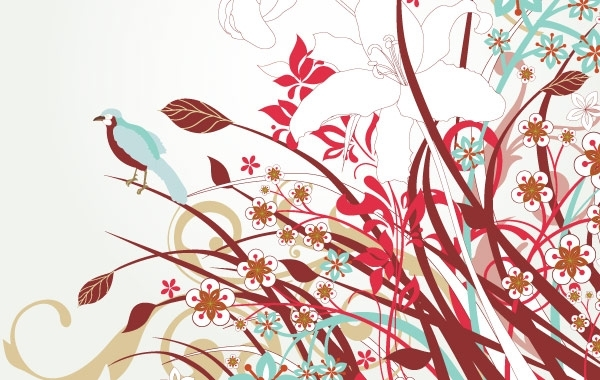 Free Free Floral Vector Art