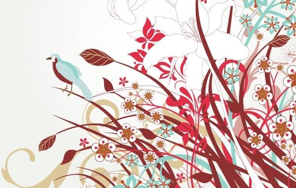 Free Vectors: Free Floral Vector Art  | webdesignhot