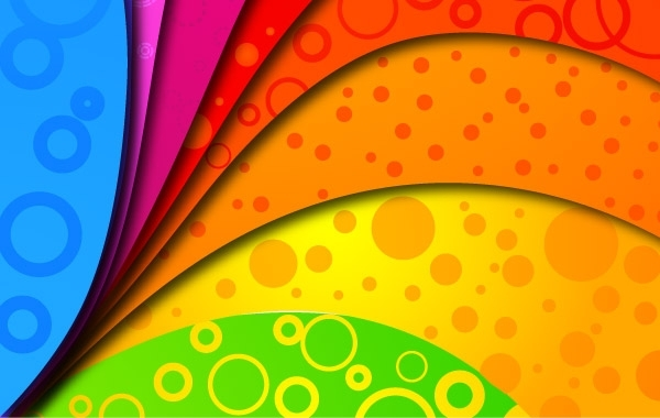 Free Rainbow Colors on Vector Background
