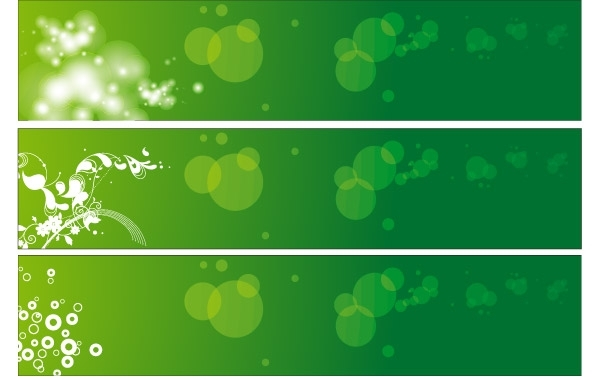 Free Green Floral Banners Vector