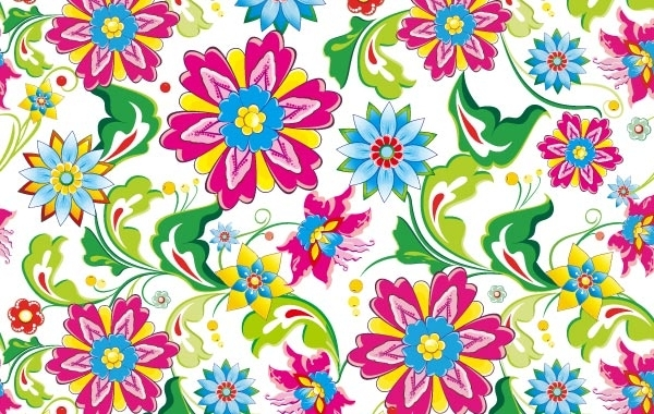 Free Showy Seamless Floral Vector