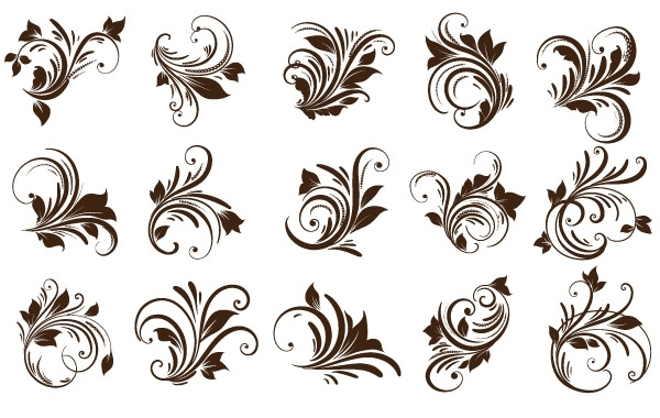Free Vectors: Floral Ornaments Element | webdesignhot
