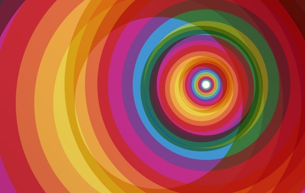 Free Spiral Rainbow Vector Background