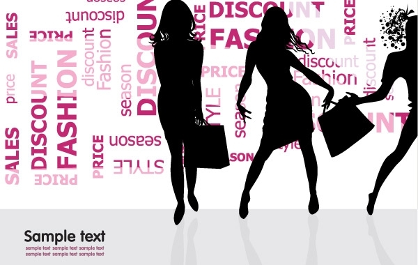 Free Vectors: Fashion Shopping Silhouette Vector Illustration | webdesignhot