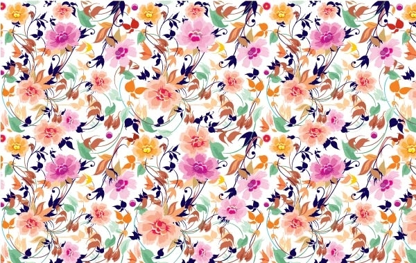 Free Flowers Seamless Pattern