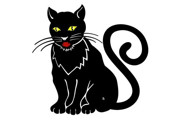 Free Black Cat Image 2
