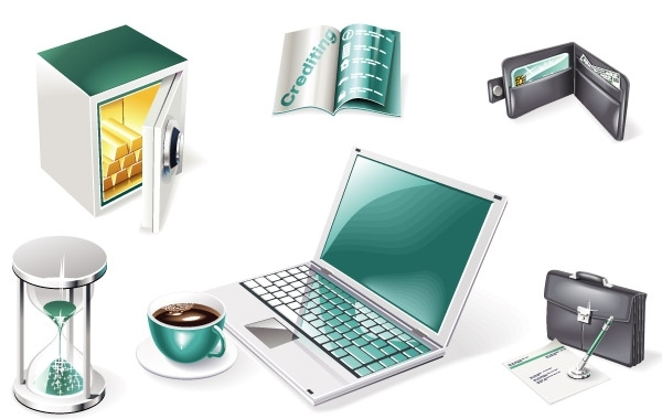 Free 3D Financial and Business Web Icons