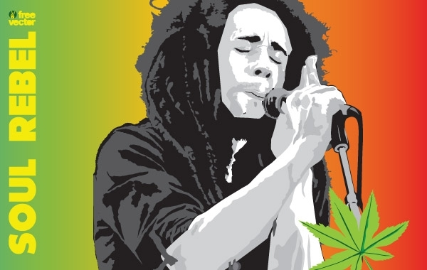Free Vectors: Bob Marley Vector | freevector