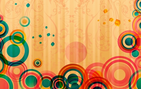 Free Abstract Colorful Card
