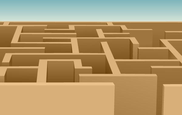 Free Maze Vector