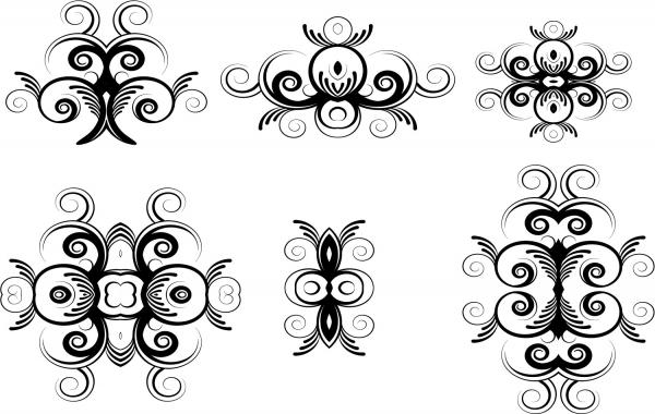 Free Floral Ornaments Vectors