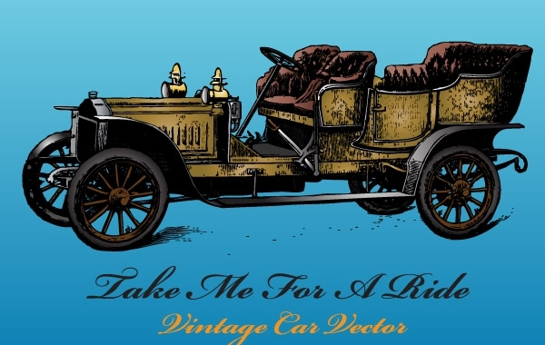 Free Antique Car Vector