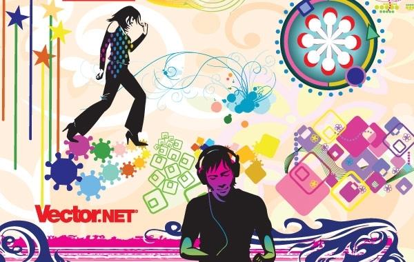 Free Music & Nightlife Flyer Vector Design Elements