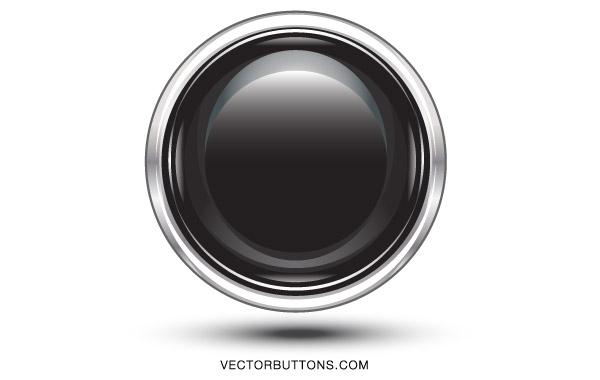 Free Platinum Black Circle Button