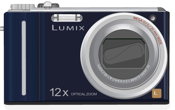 Free Lumix Camera Vector Art