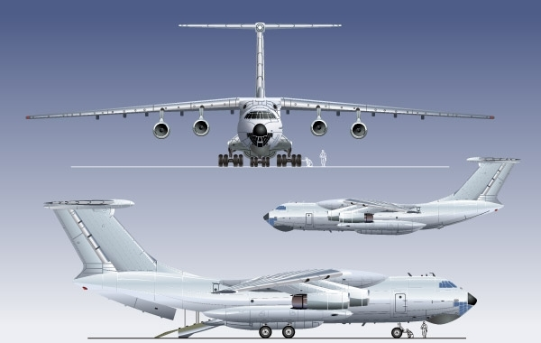 Free CARGO AND PASSANGER AIRPLANE VECTOR