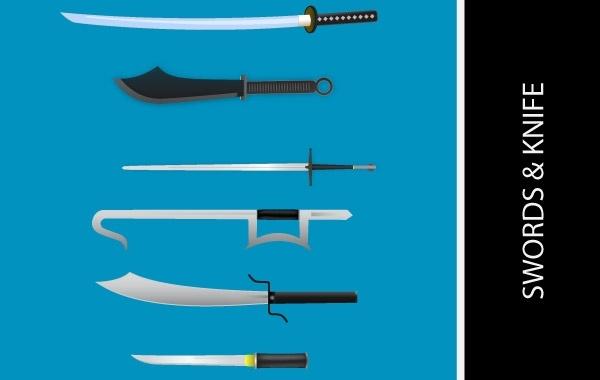 Free KNIVES AND SWORDS VECTORS