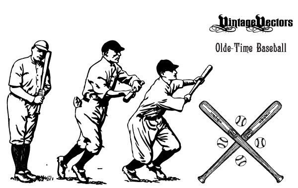 Free Olde-Time Baseball Vectors