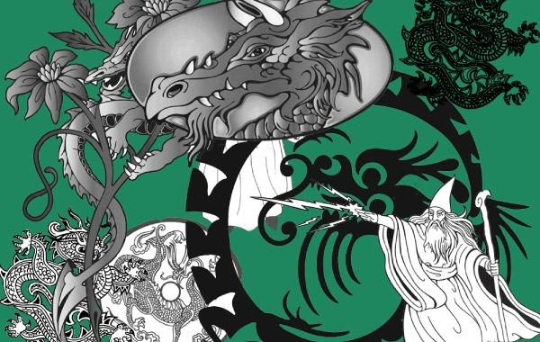 Free Wizard & Dragon Vectors