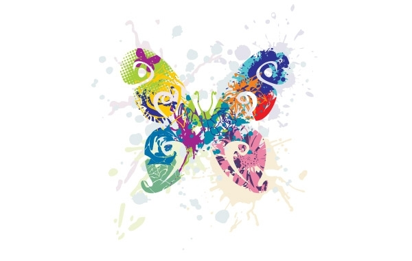 Free Multicolored Butterfly Graphic