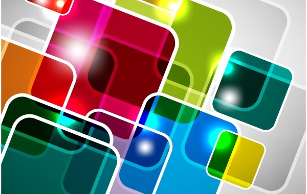 Free Abstract Square Vector Background