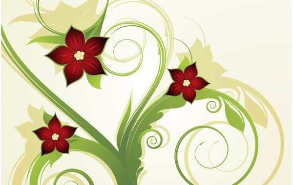 Free Abstract floral background 2