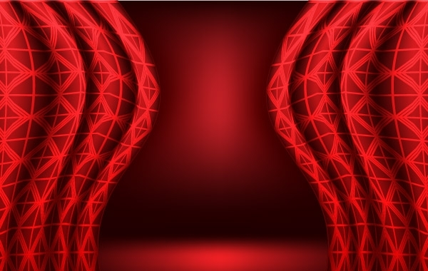 Free Red vector curtain background