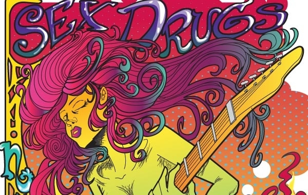 Free Psychedelic Rock Star Poster Vector