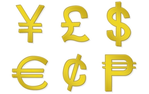 Free Golden Money Symbols