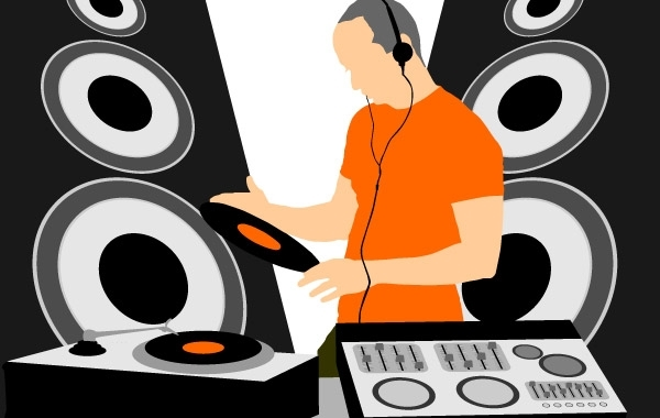 Free Music DJ Graphic Vector